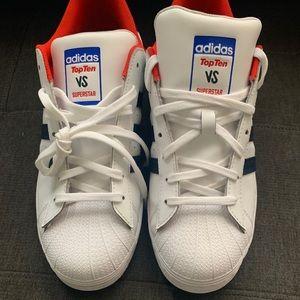 Adidas top 10 VS. Supersta. Men's 11 1/2